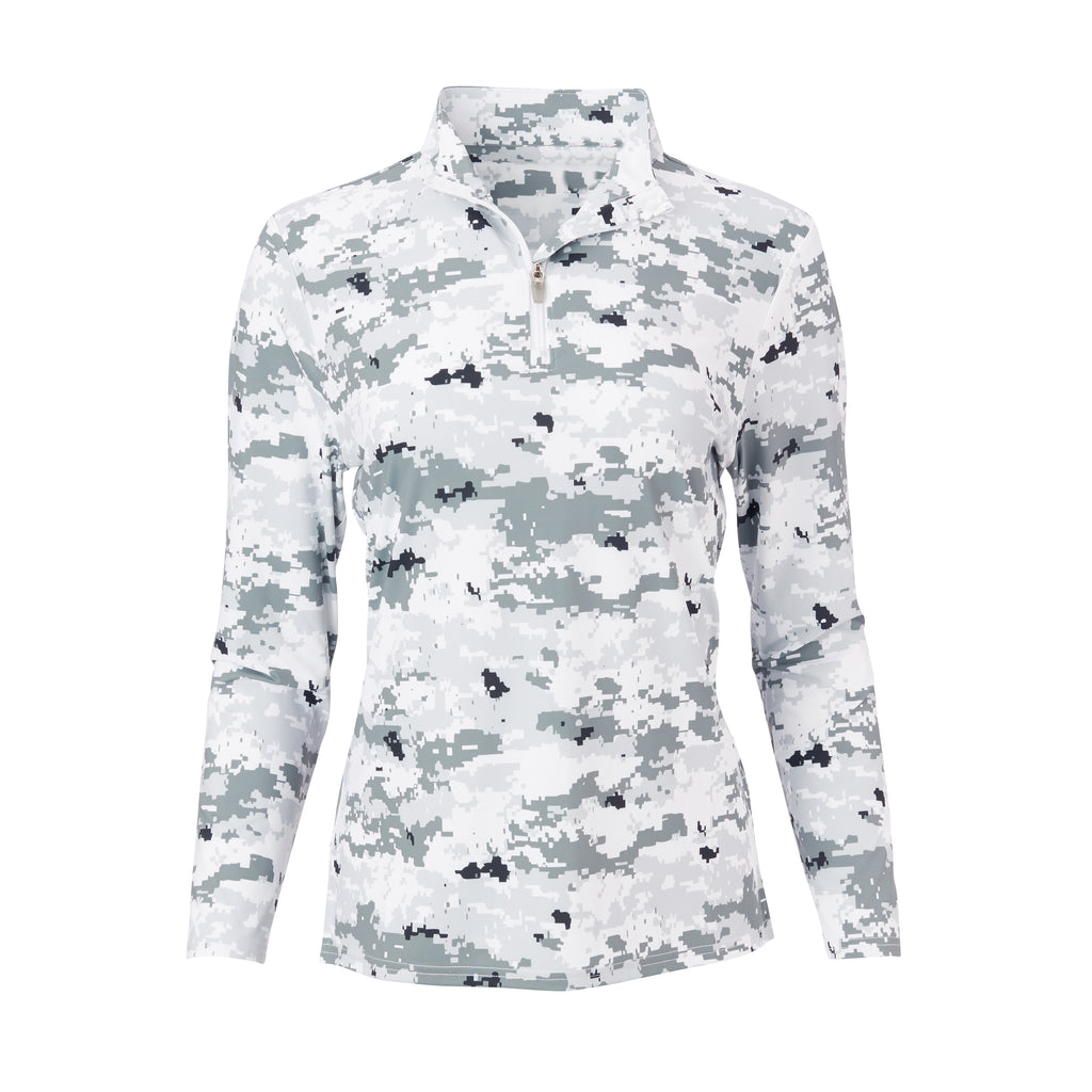 THE WOMEN'S PULIDO DIGITAL CAMO HALF ZIP PULLOVER - Polar IS76005W