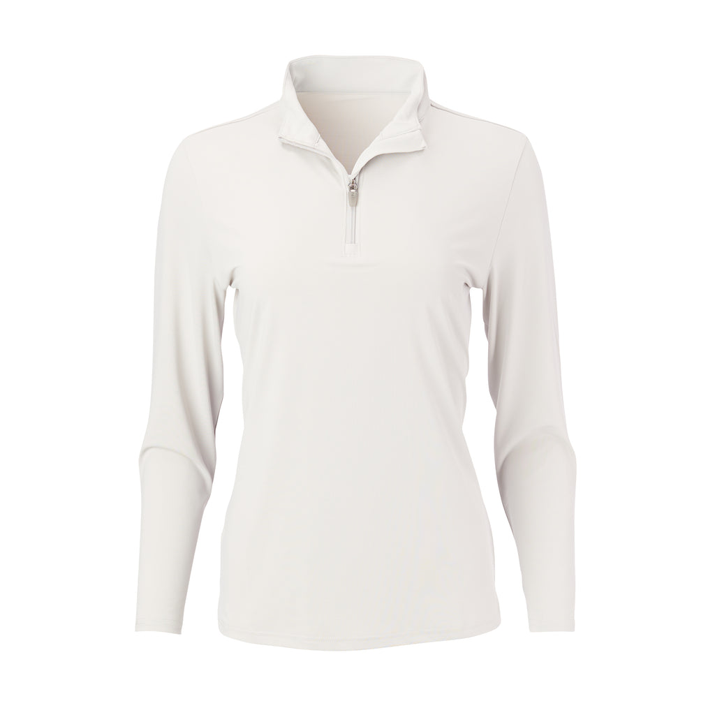 THE WOMEN'S CLASSIC LONG SLEEVE HALF ZIP PULLOVER - Cloud IS76006W