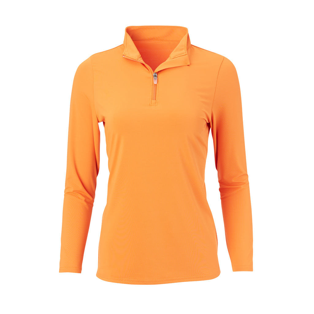 THE WOMEN'S CLASSIC LONG SLEEVE HALF ZIP PULLOVER - Fire IS76006W