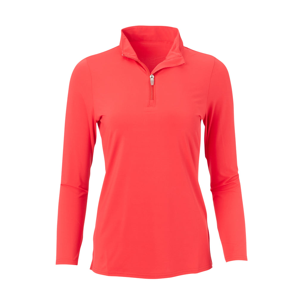 THE WOMEN'S CLASSIC LONG SLEEVE HALF ZIP PULLOVER - IS76006W