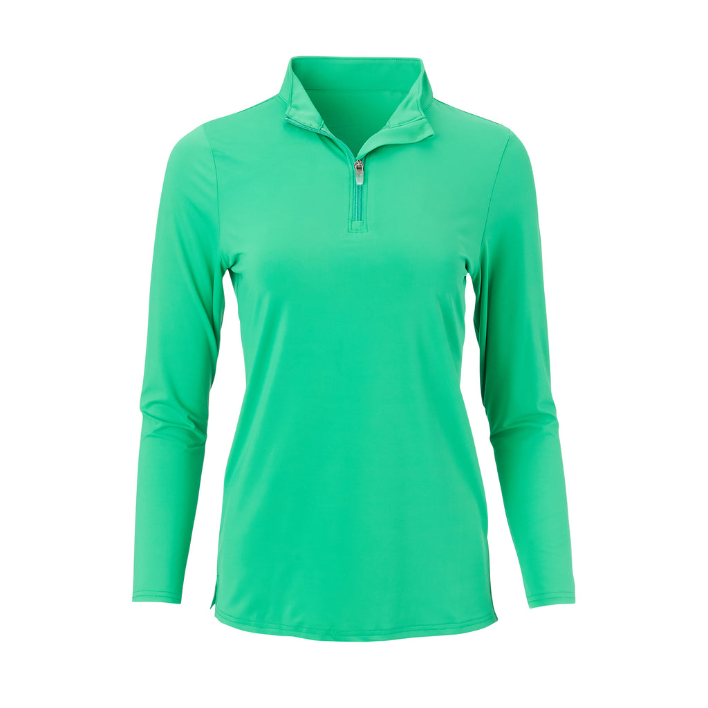 THE WOMEN'S CLASSIC LONG SLEEVE HALF ZIP PULLOVER - Turf IS76006W