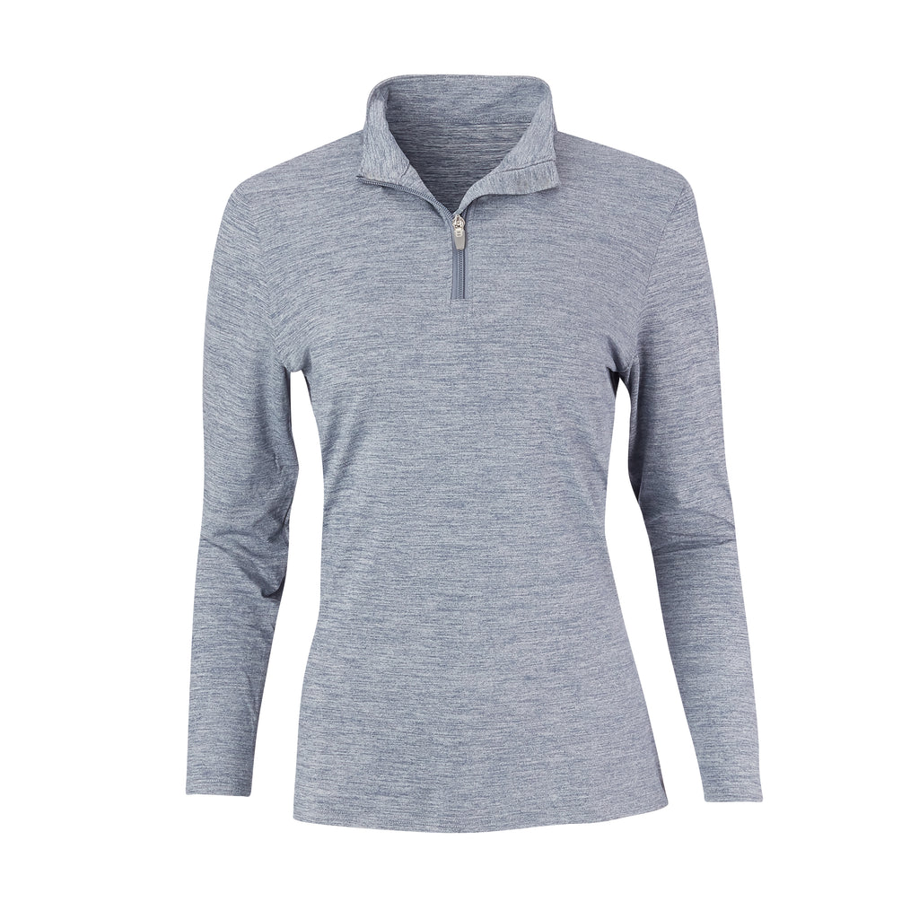 THE WOMEN'S ZEN PEACHED HALF ZIP PULLOVER - Navy/Cloud IS76116W