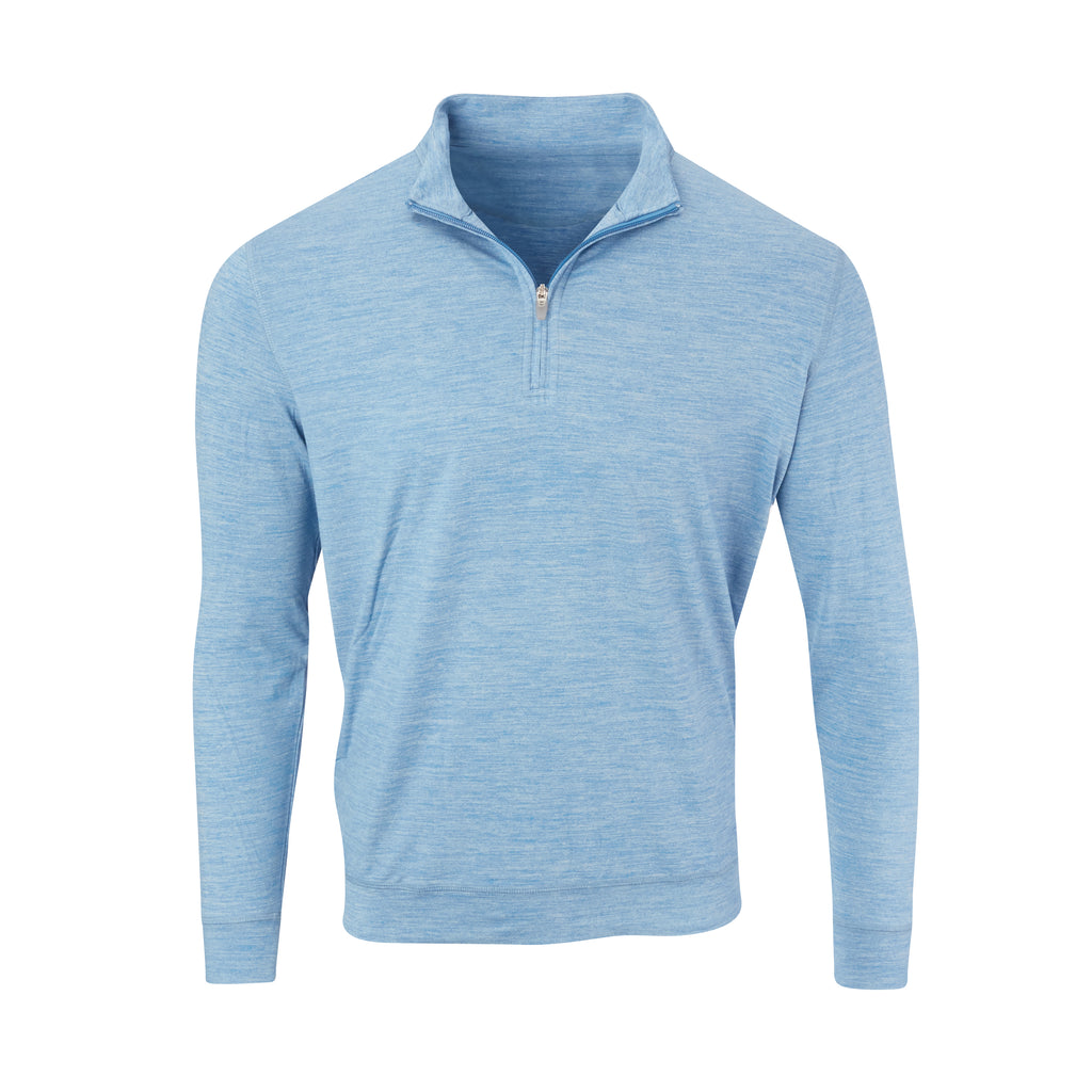THE ZEN PEACHED HALF ZIP PULLOVER - Nautical/Cloud IS76116