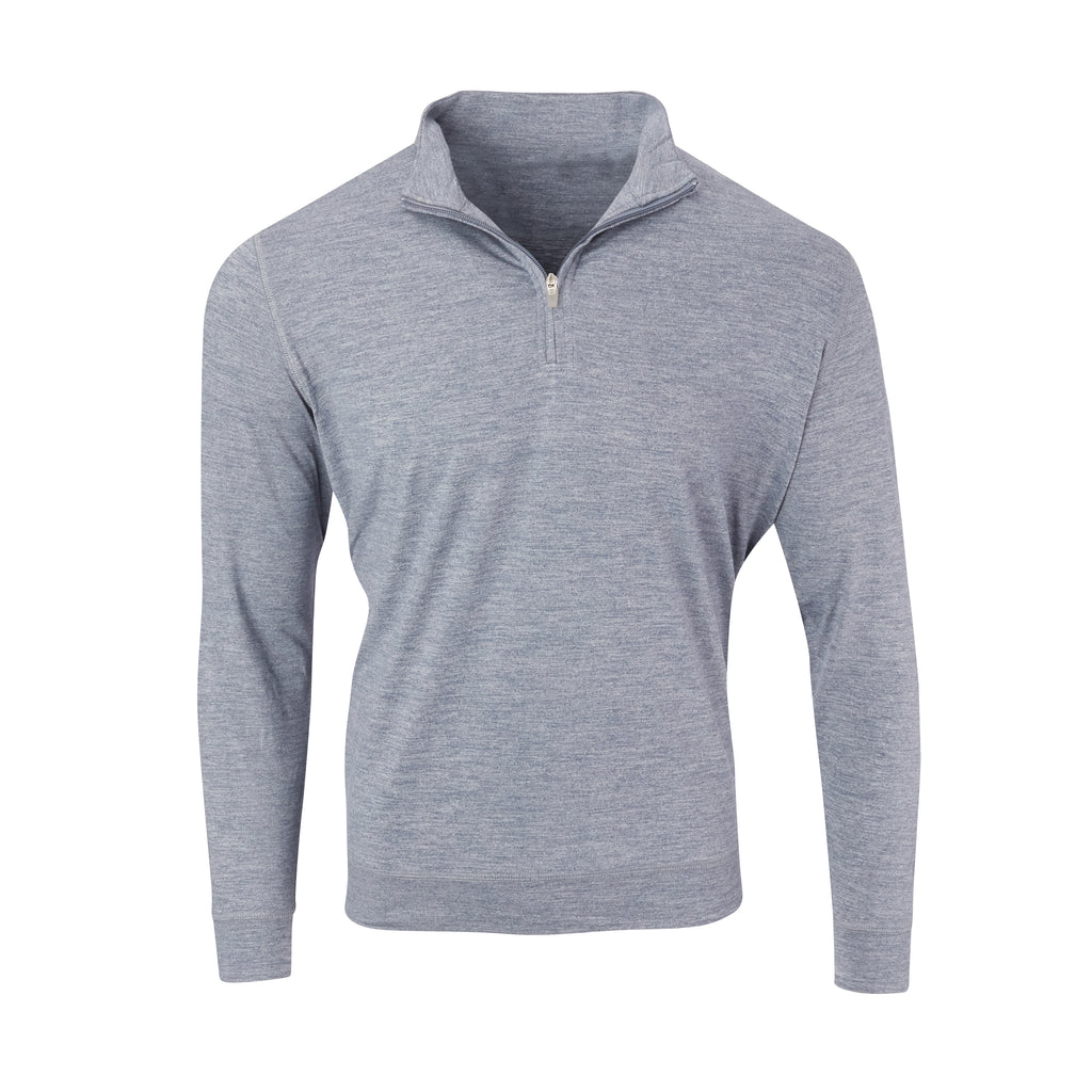 THE ZEN PEACHED HALF ZIP PULLOVER - Navy/Cloud IS76116