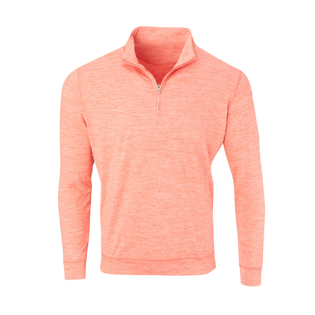 THE ZEN PEACHED HALF ZIP PULLOVER - Vibrant Orange IS76116