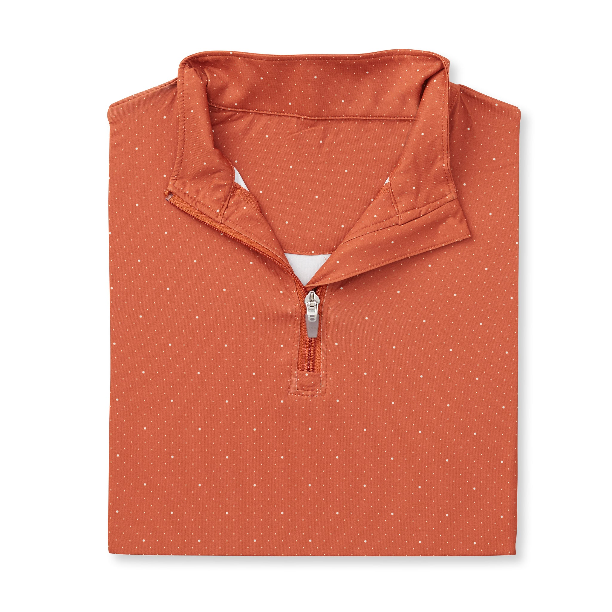 Womens ECOTEC Dual Dot Half Zip Pullover - Burnt Orange/Cloud IS76216W