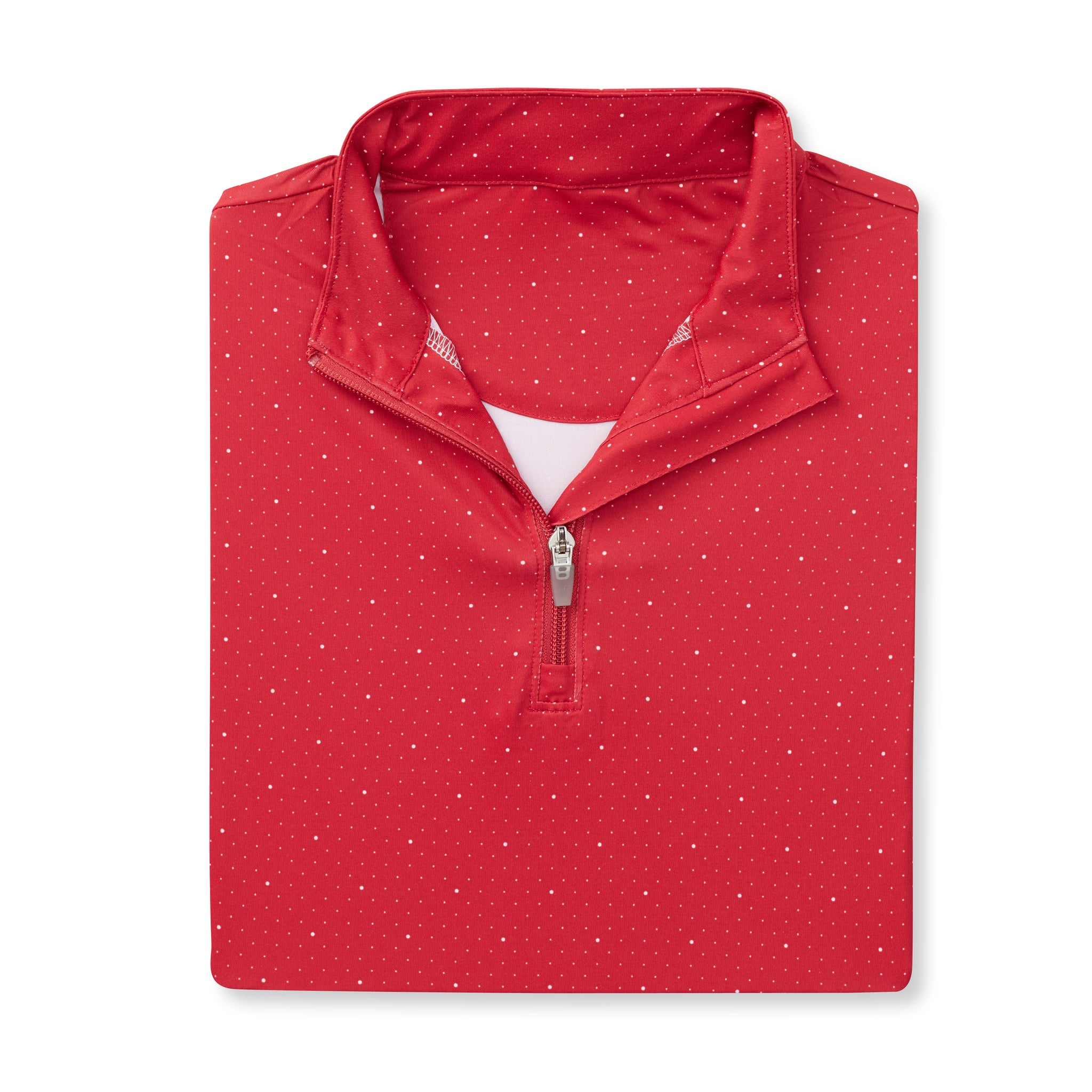 Womens ECOTEC Dual Dot Half Zip Pullover - Crimson/White IS76216W