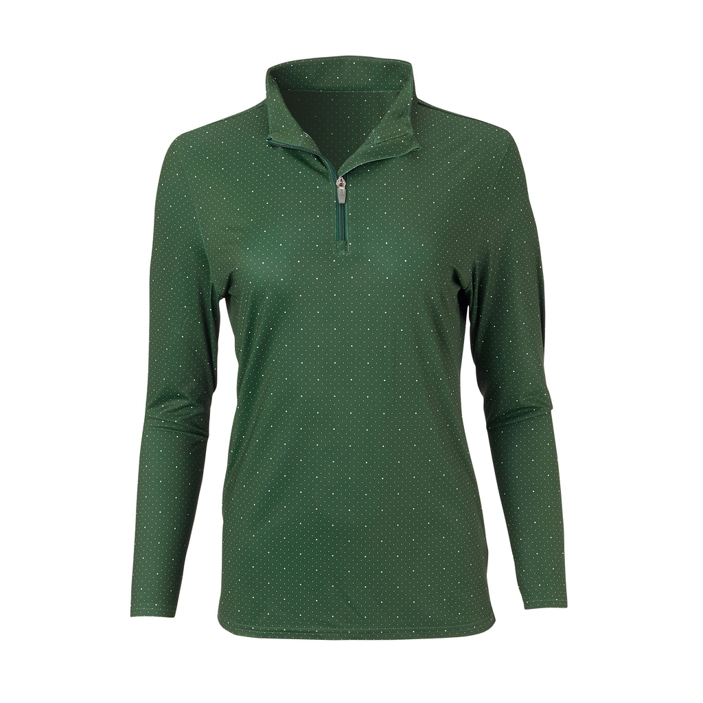 THE WOMEN'S SKYWALKER HALF ZIP PULLOVER - Pine/White IS76216W
