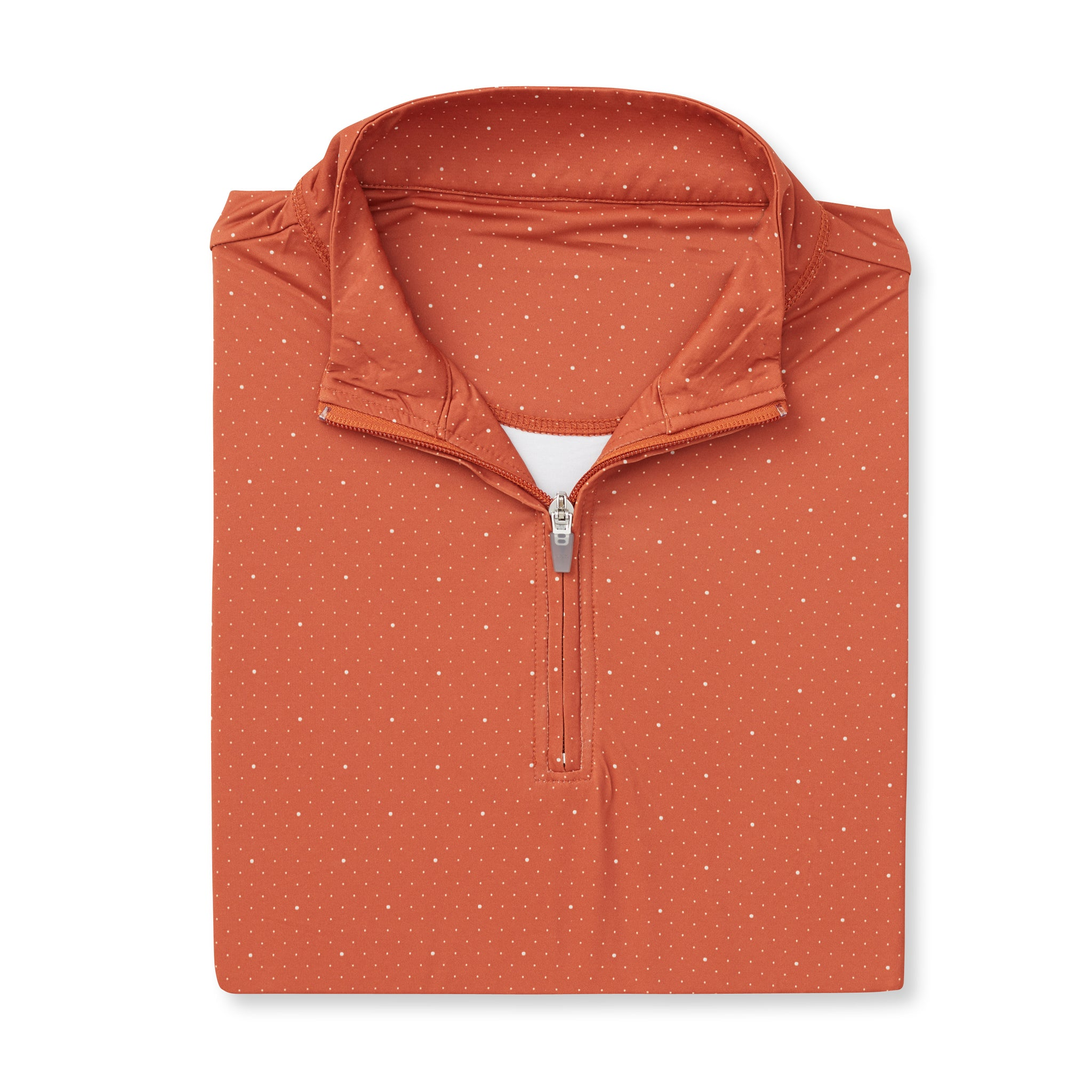 ECOTEC Dual Dot Half Zip Pullover - Burnt Orange/Cloud IS76216