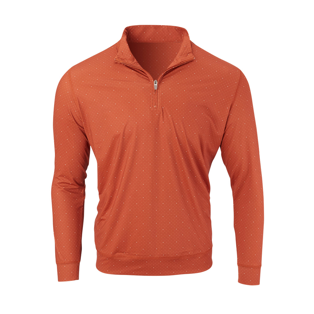 THE SKYWALKER HALF ZIP PULLOVER - Burnt Orange/Cloud IS76216