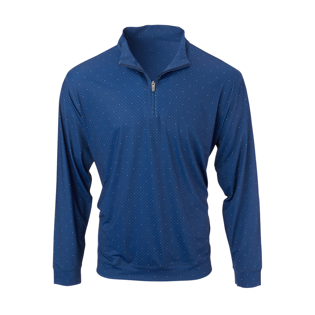 THE SKYWALKER HALF ZIP PULLOVER - Navy/White IS76216