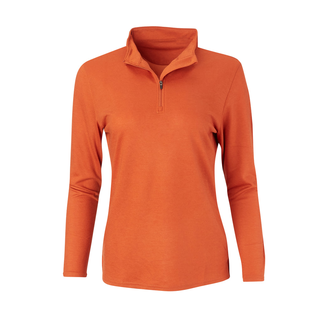 THE WOMEN'S MATTHEWS LOFTEC HALF ZIP PULLOVER - Burnt Orange IS76308HZW