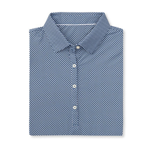 THE WOMEN'S VINEYARD GINGHAM POLO - Navy IS76801W