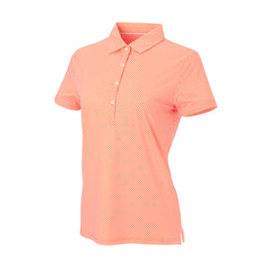 THE WOMEN'S VINEYARD GINGHAM POLO - Vibrant Orange IS76801W
