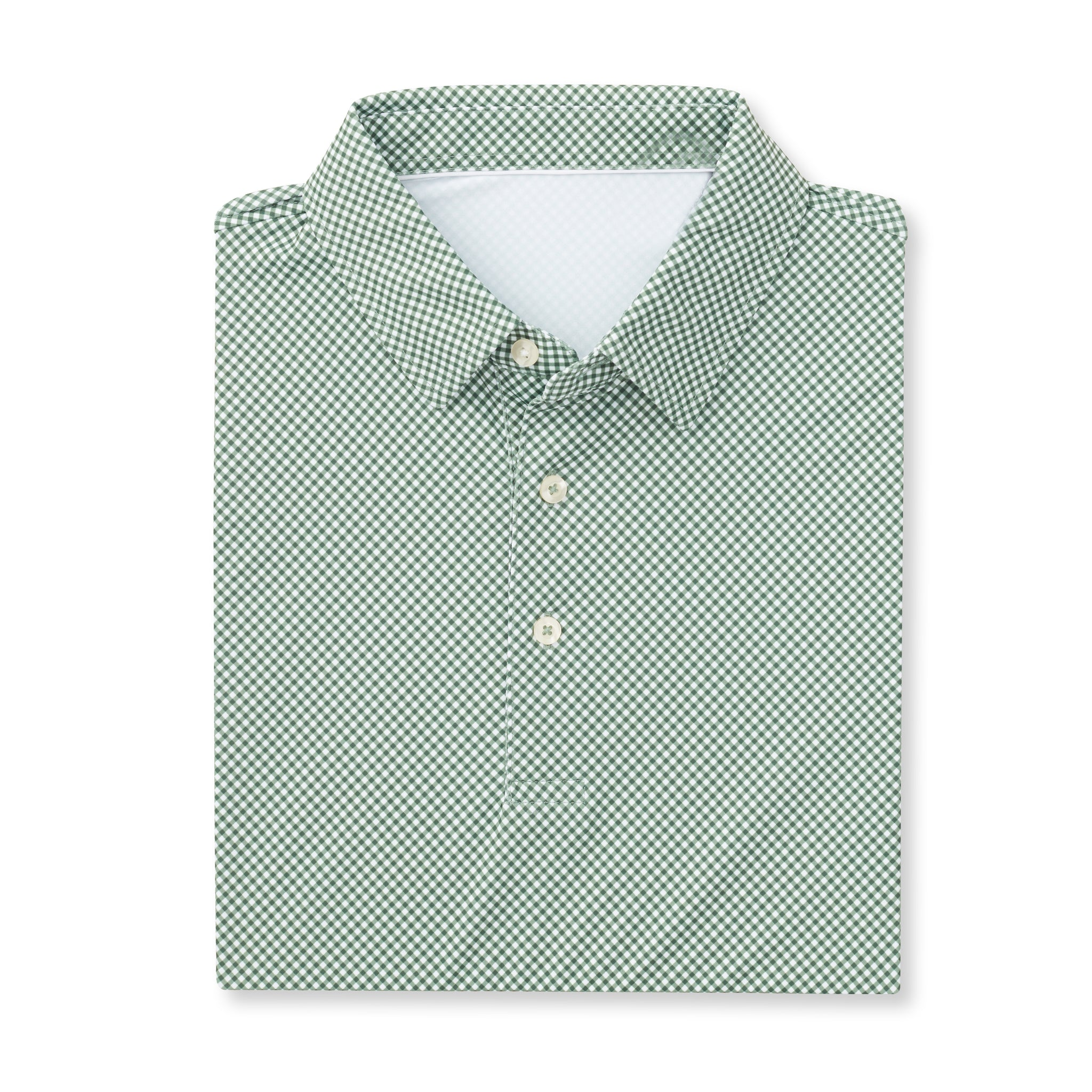 THE VINEYARD GINGHAM POLO - Pine IS76801
