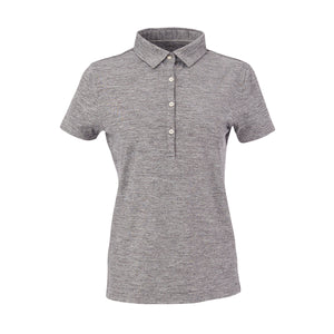 THE WOMEN'S ZEN PEACHED POLO - Black/Cloud IS76802W
