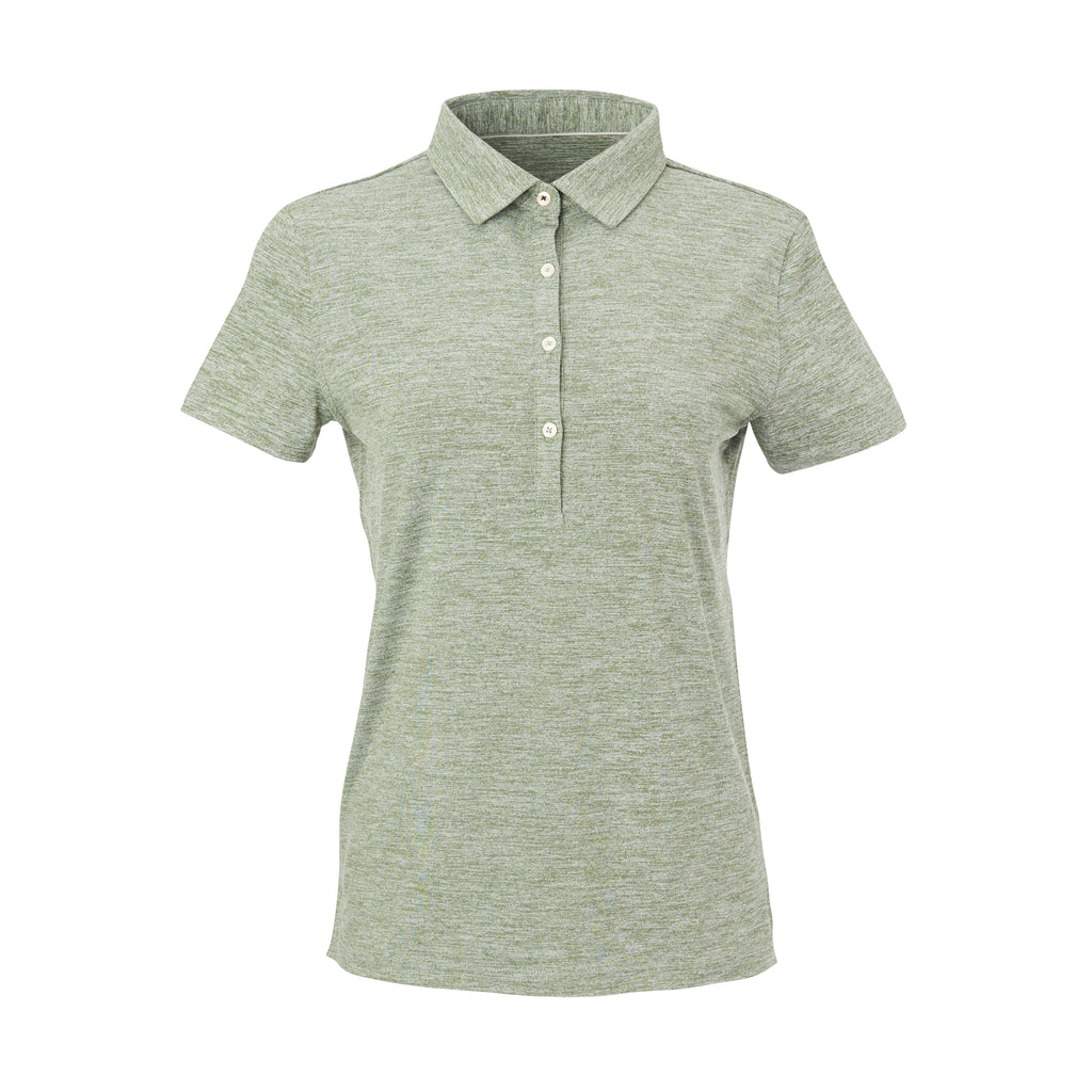 THE WOMEN'S ZEN PEACHED POLO - Pine/Cloud IS76802W