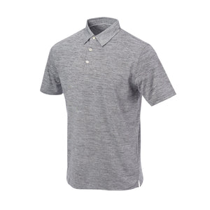 THE ZEN PEACHED POLO - Black/Cloud IS76802