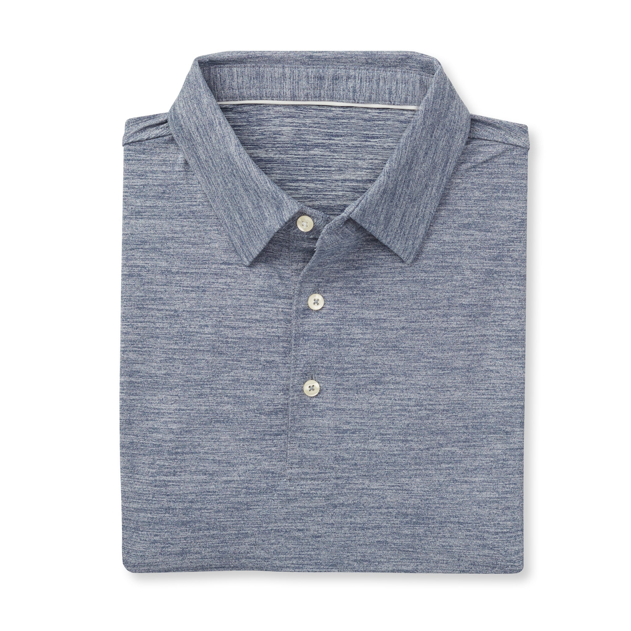 ECOTEC Peached Short Sleeve Polo - Navy/Cloud IS76802