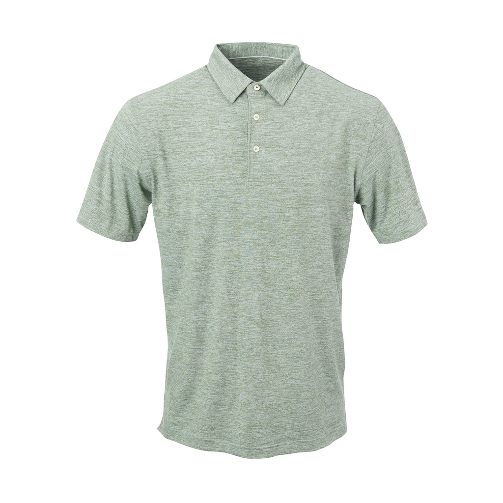 THE ZEN PEACHED POLO - Pine/Cloud IS76802