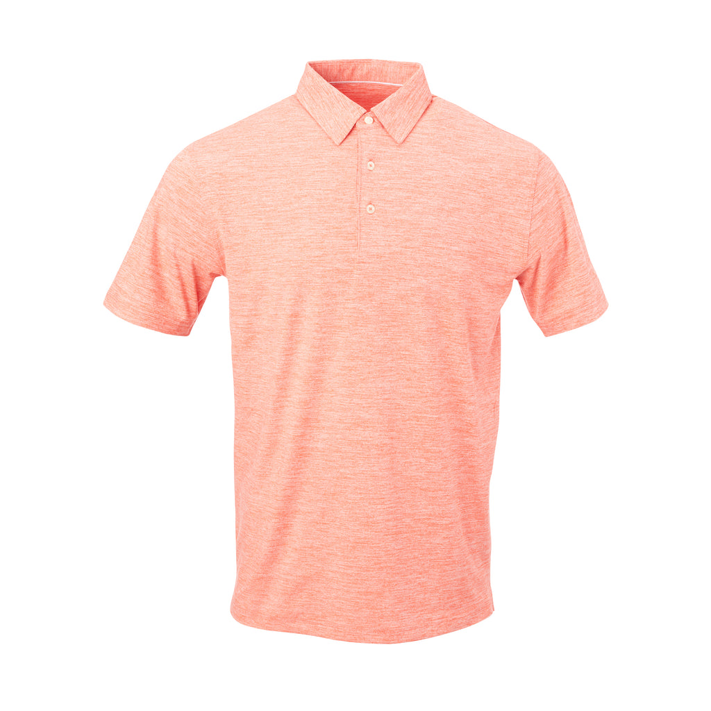 THE ZEN PEACHED POLO - Vibrant Orange IS76802