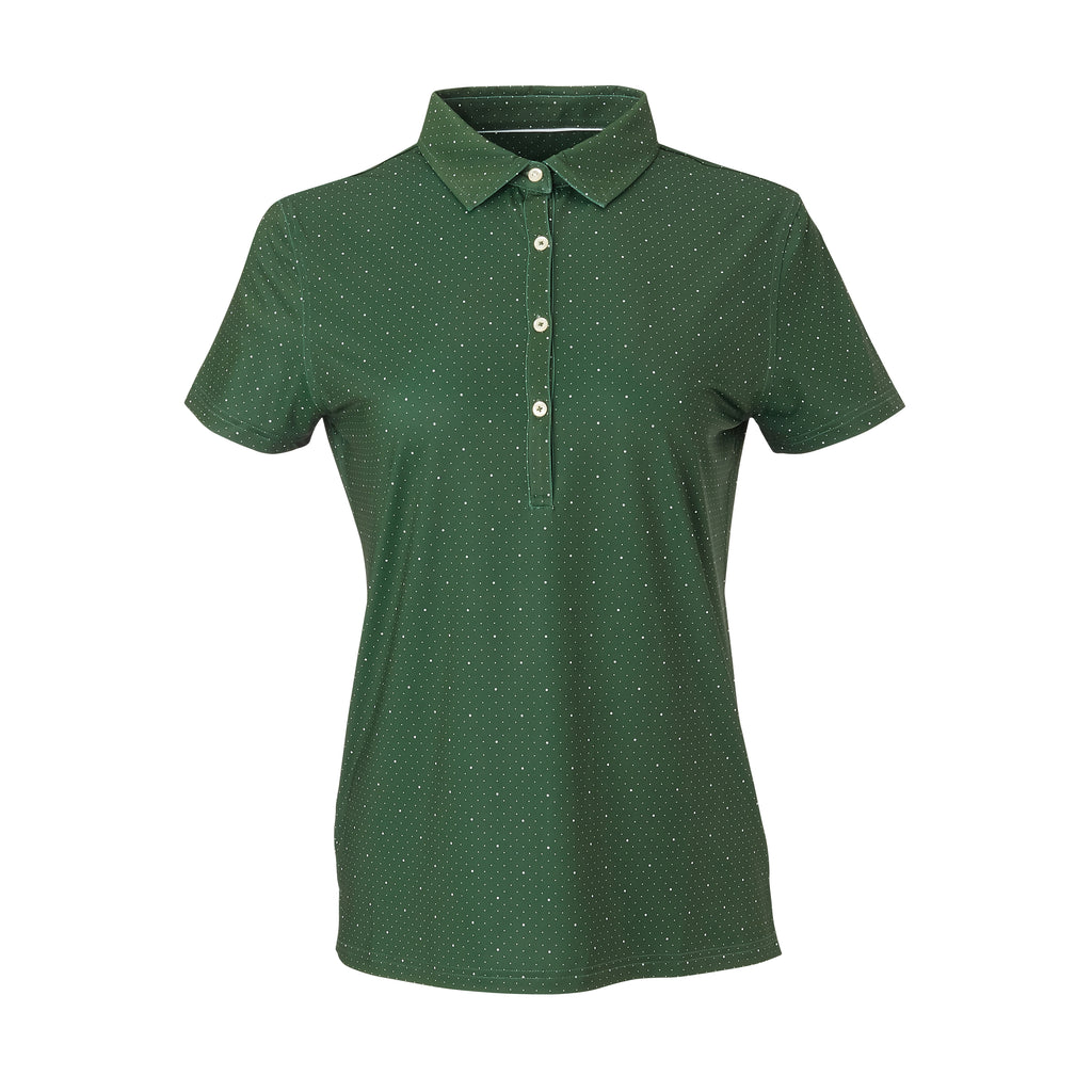 THE WOMEN'S SKYWALKER POLO - Pine/White IS76803W