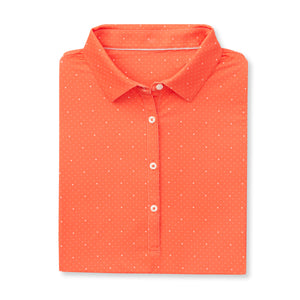 THE WOMEN'S SYWALKER POLO - Vibrant Orange/White IS76803W