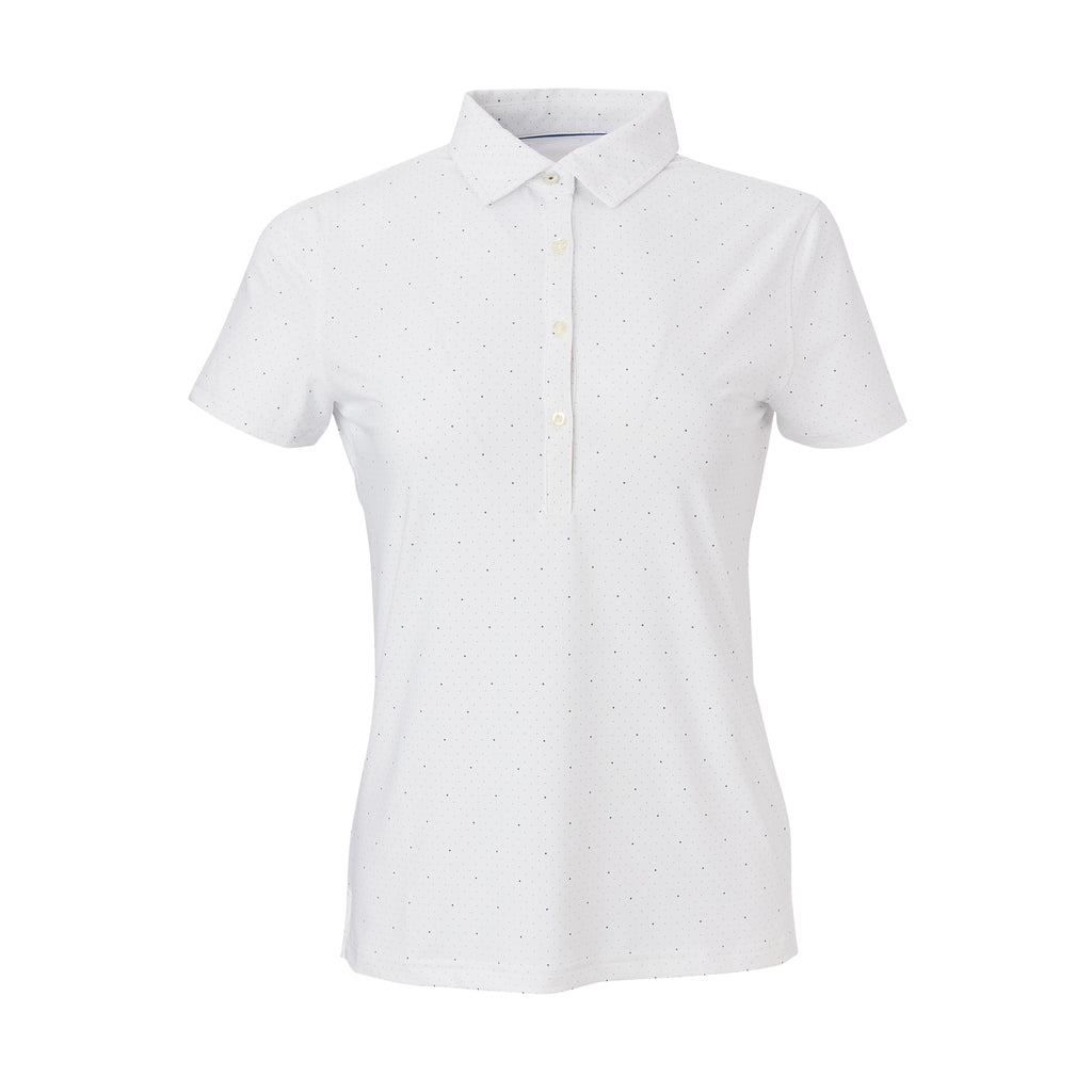 THE WOMEN'S SKYWALKER POLO - White/Nautical IS76803W