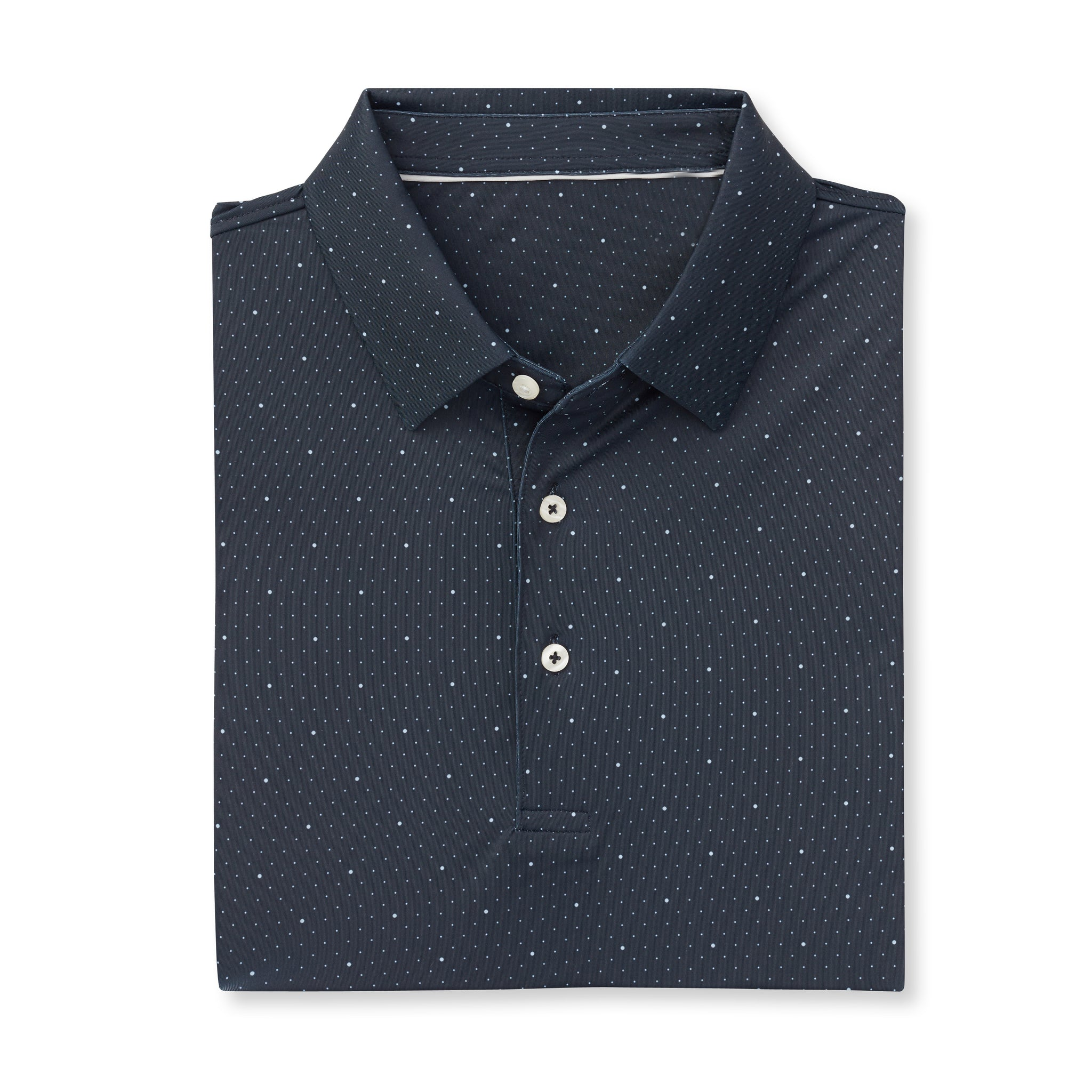 ECOTEC Short Sleeve Dual Dot Polo - Black/Cloud IS76803