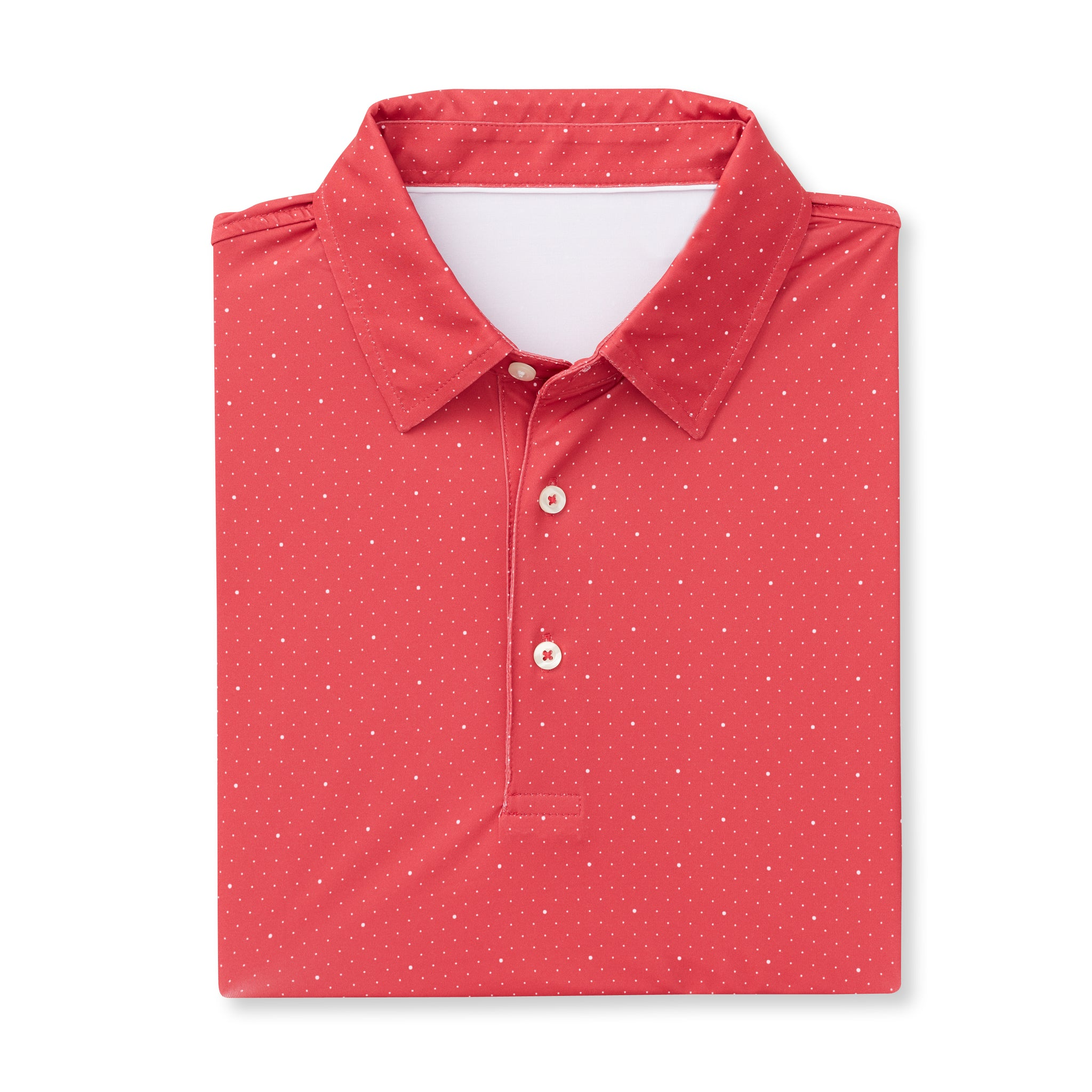 ECOTEC Short Sleeve Dual Dot Polo - Crimson/White IS76803