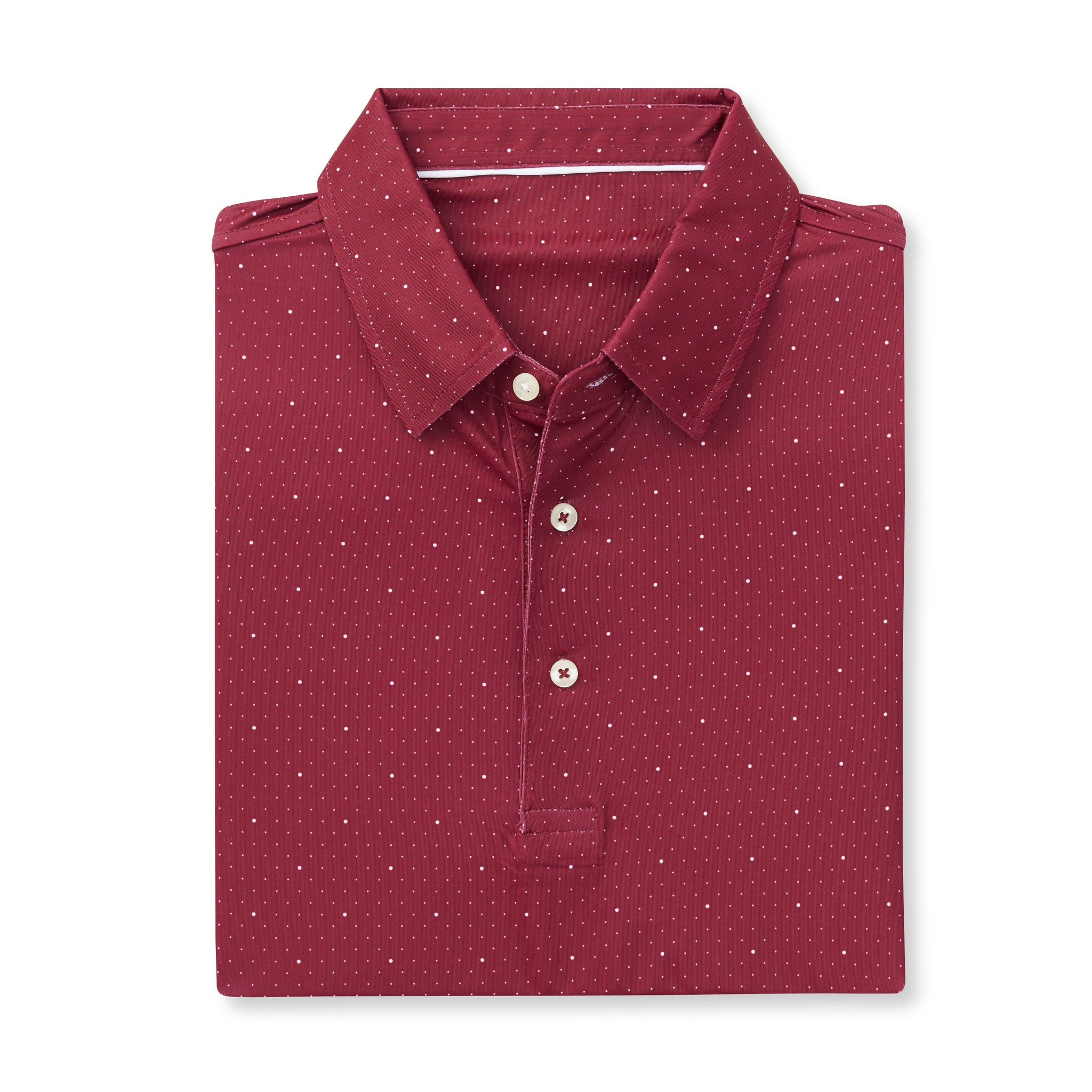 ECOTEC Short Sleeve Dual Dot Polo - Merlot/White IS76803