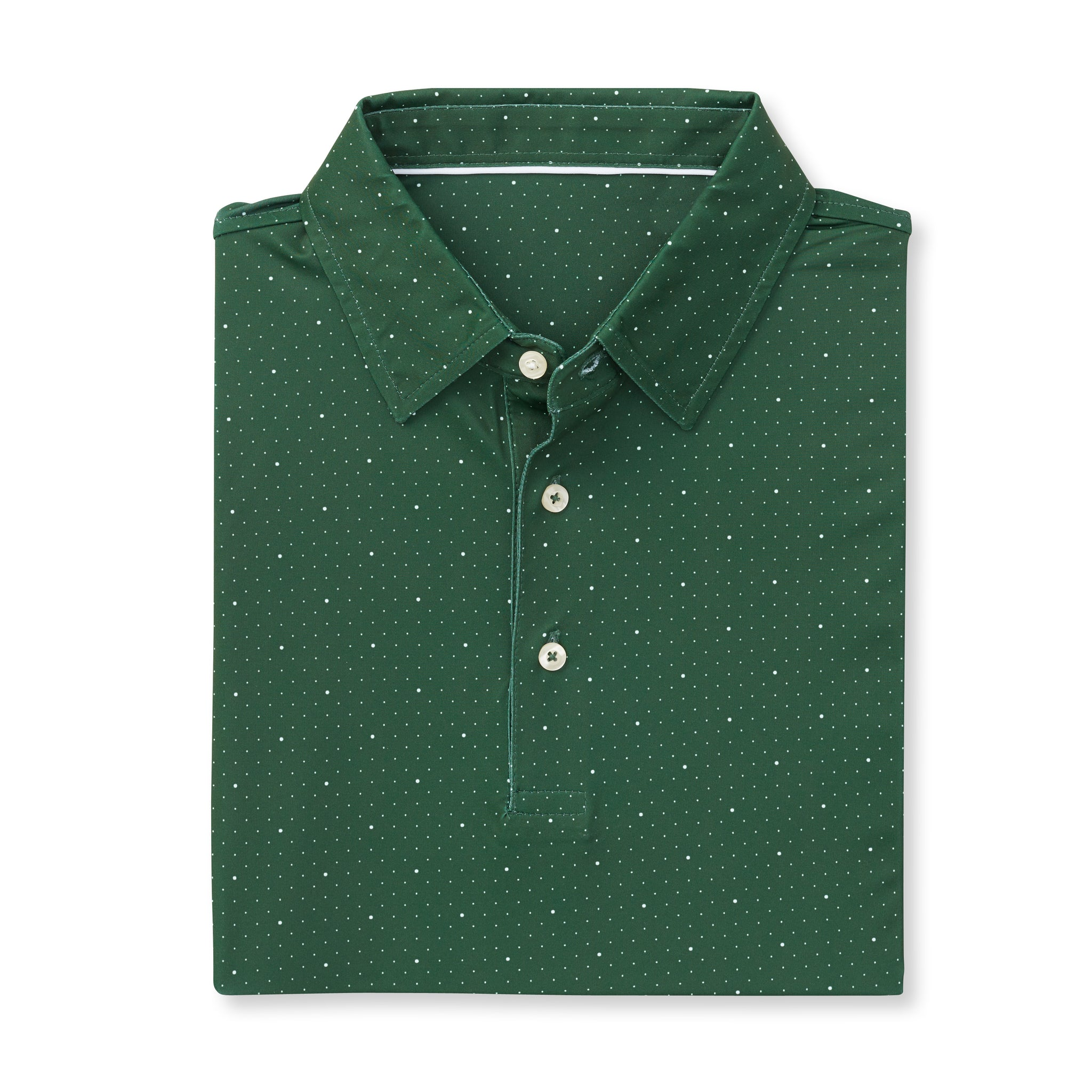 ECOTEC Short Sleeve Dual Dot Polo - Pine/White IS76803