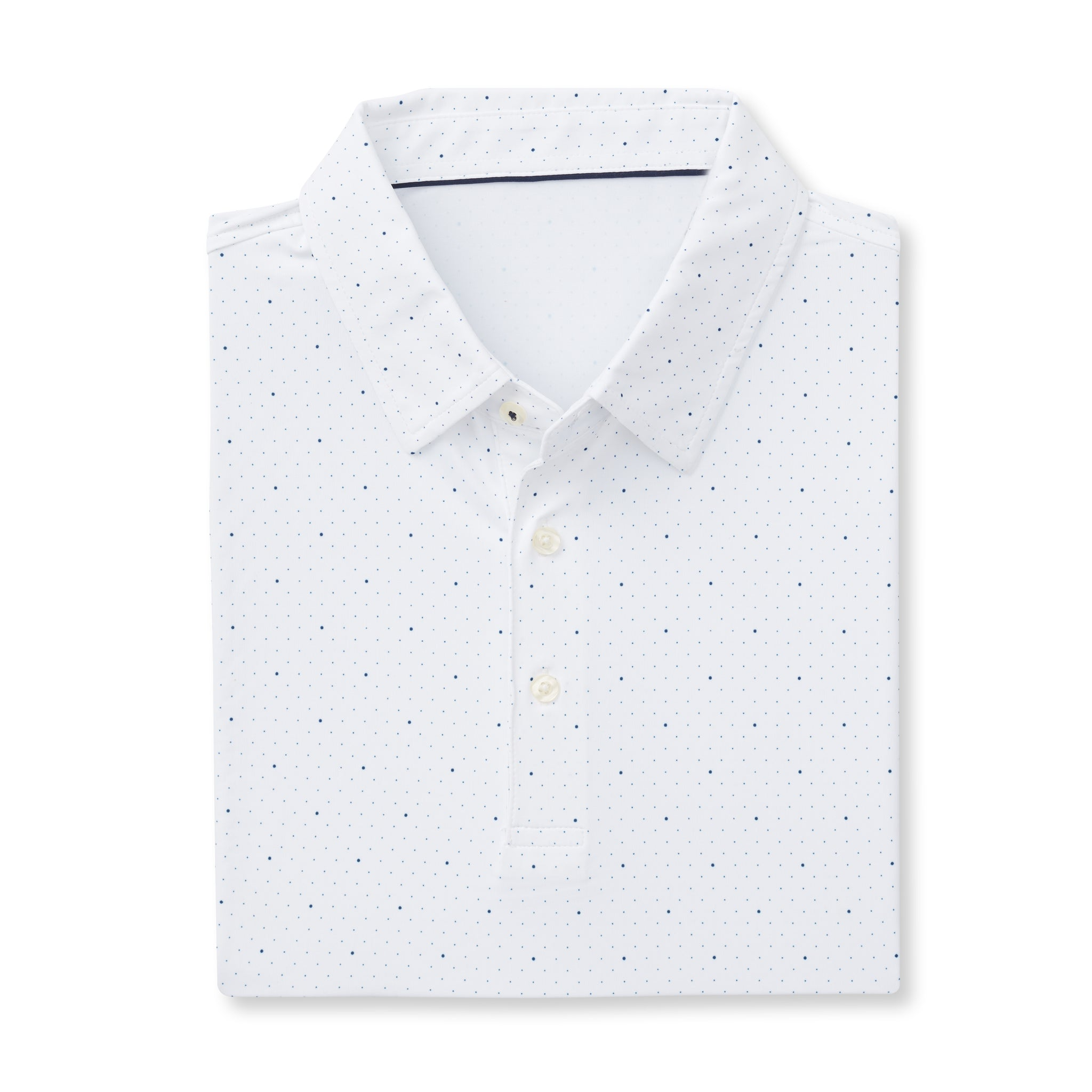 ECOTEC Short Sleeve Dual Dot Polo - White/Navy IS76803
