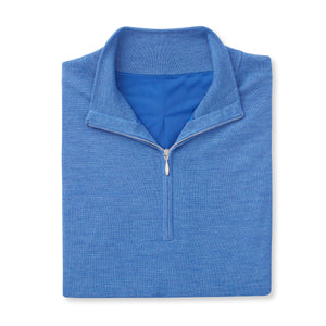 THE CHITOWN MERINO HALF ZIP VEST- Nautical Heather IS85708HZVE