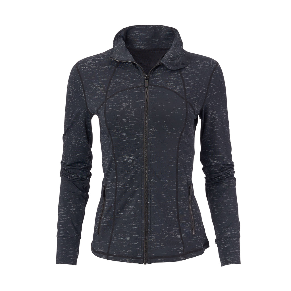 THE WOMEN'S FLASH ECOTEC PRINT FULL ZIP  - Black IS86217FZW