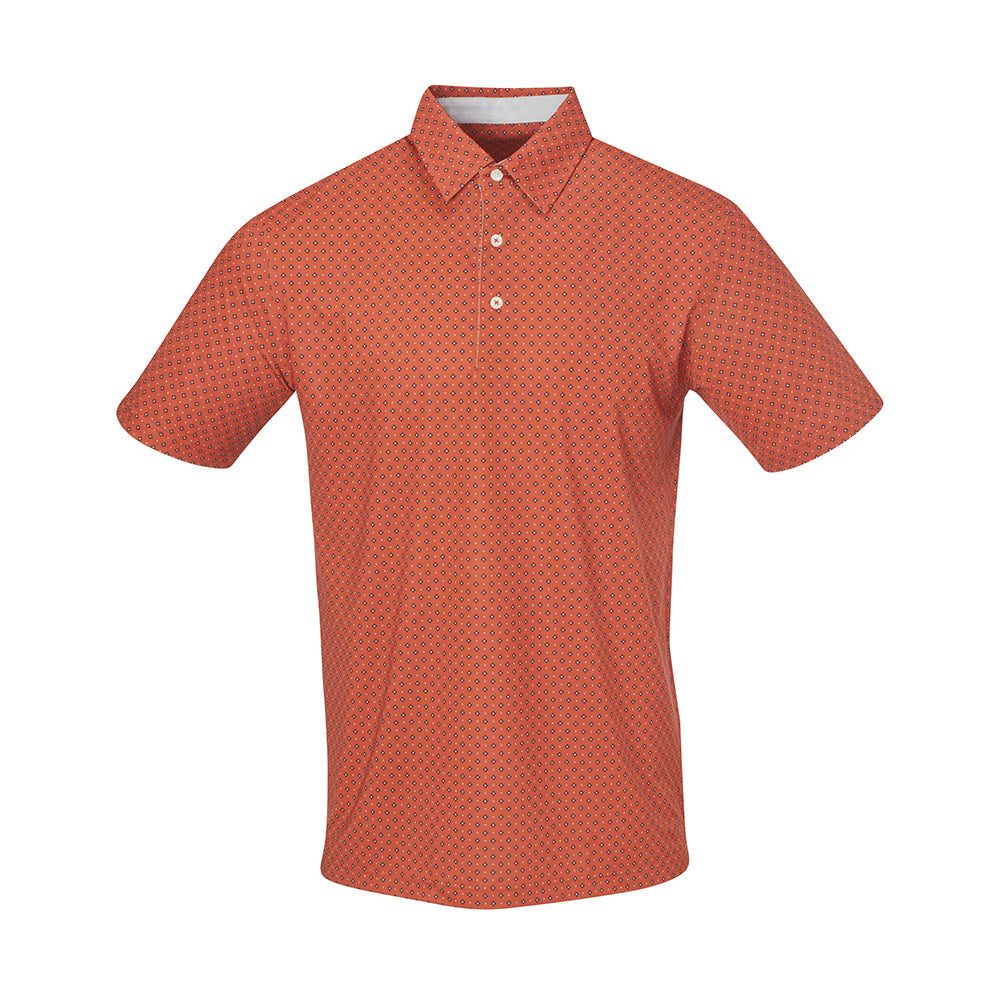 THE BOCHY GEO FOULARD POLO - Burnt Orange IS86805