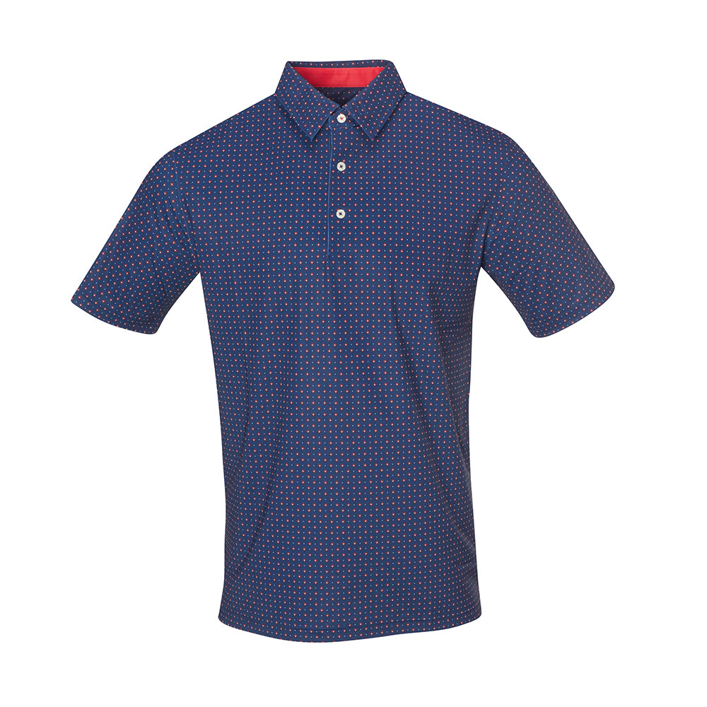 THE BOCHY GEO FOULARD POLO - Navy IS86805
