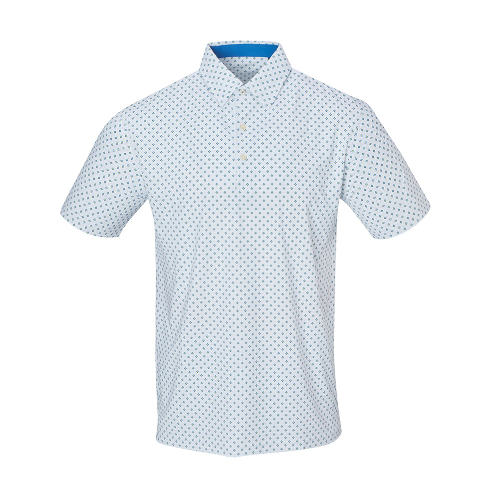 THE BOCHY GEO FOULARD POLO - White IS86805
