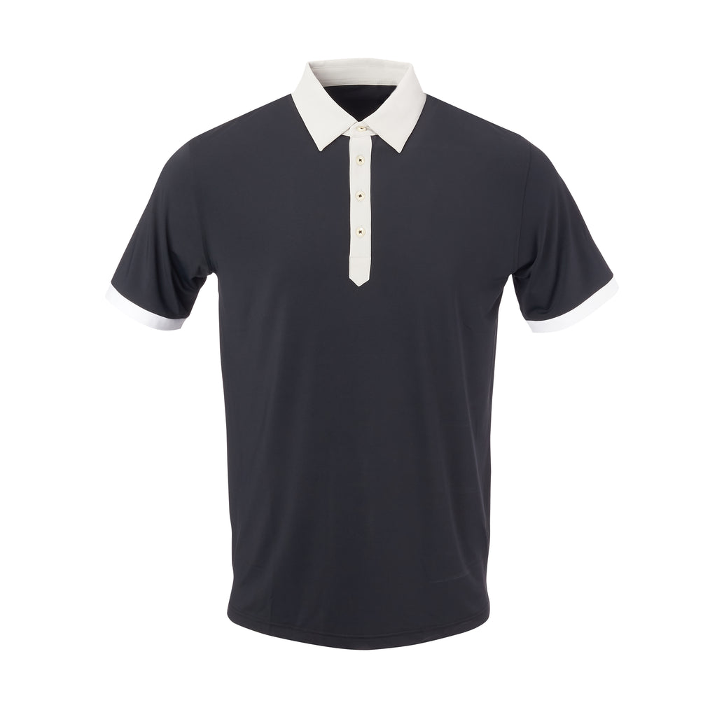 THE STADIUM COLORBLOCK POLO - Black/Cloud  IS86806