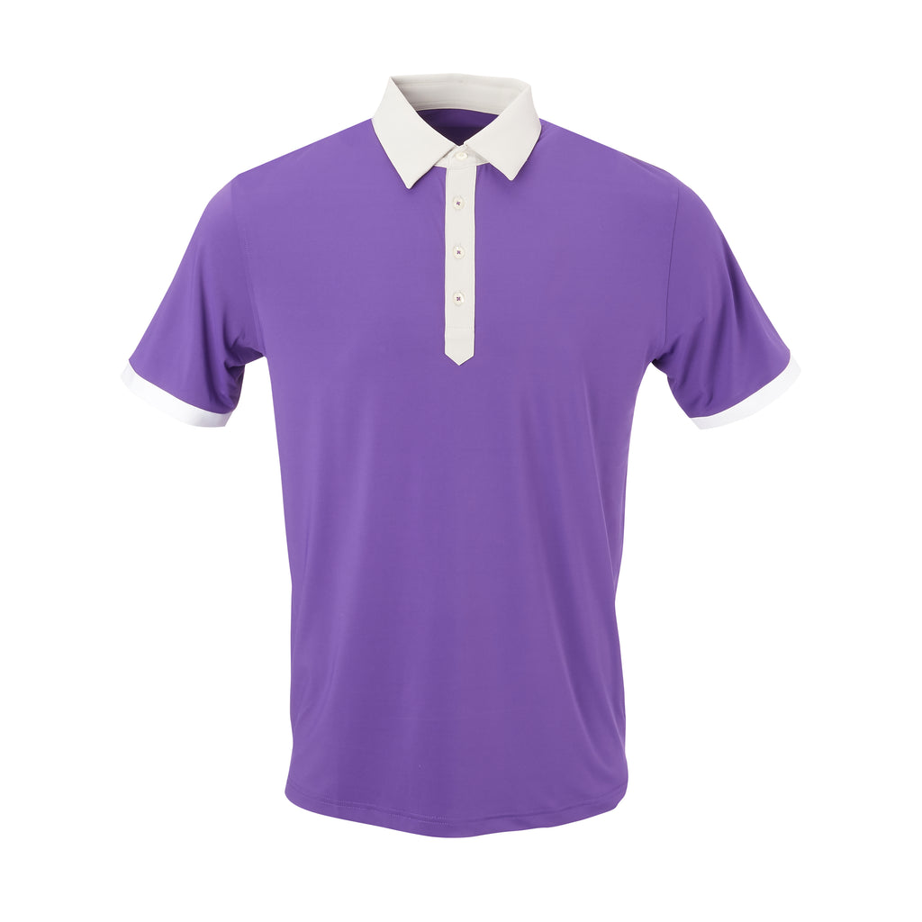 THE STADIUM COLORBLOCK POLO - Berry/Cloud  IS86806