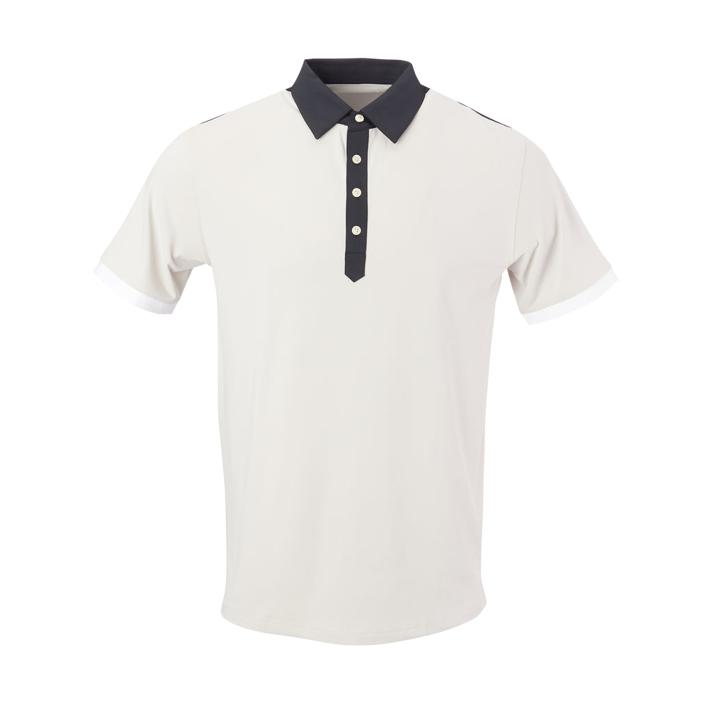 THE STADIUM COLORBLOCK POLO - Cloud/Black  IS86806