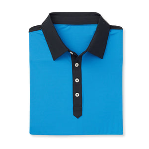 THE STADIUM COLORBLOCK POLO - Nautical/Black  IS86806