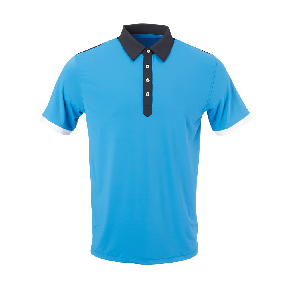 THE STADIUM COLORBLOCK POLO- Nautical/Black IS86806