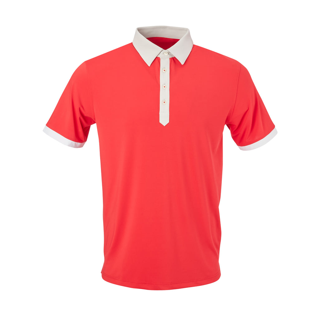 THE STADIUM COLORBLOCK POLO - Patriot Red/Cloud IS86806