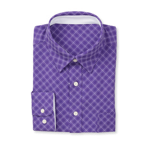 THE  BOSS JASON DIAGONAL SPORT SHIRT - IS92310 Berry