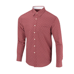 THE  BOSS JASON DIAGONAL SPORT SHIRT - IS92310 Merlot