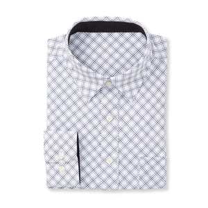 THE  BOSS JASON DIAGONAL SPORT SHIRT - IS92310 White/Black