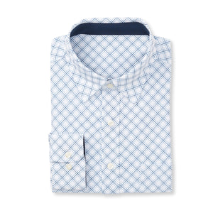 THE  BOSS JASON DIAGONAL SPORT SHIRT - IS92310 White/Navy