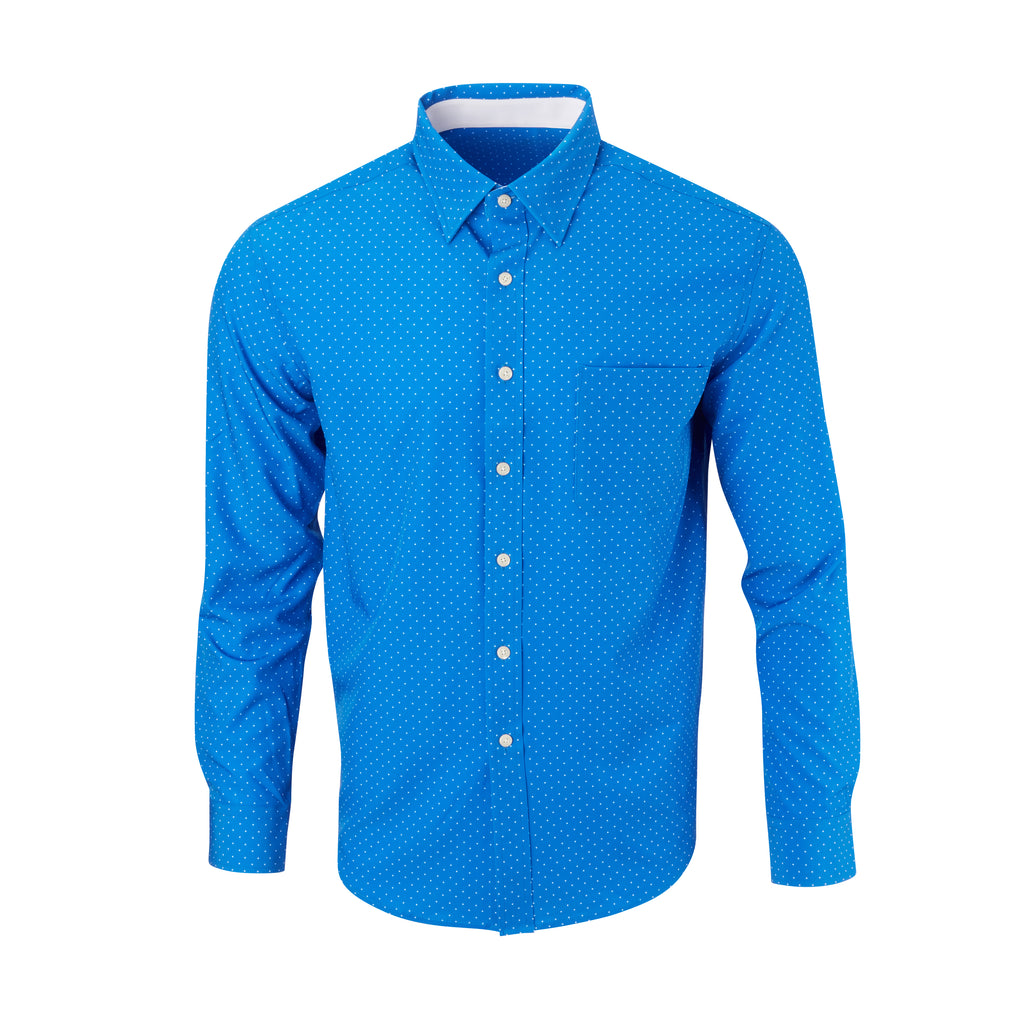 THE BOSS LECKER DOT SPORT SHIRT - IS92311 Nautical