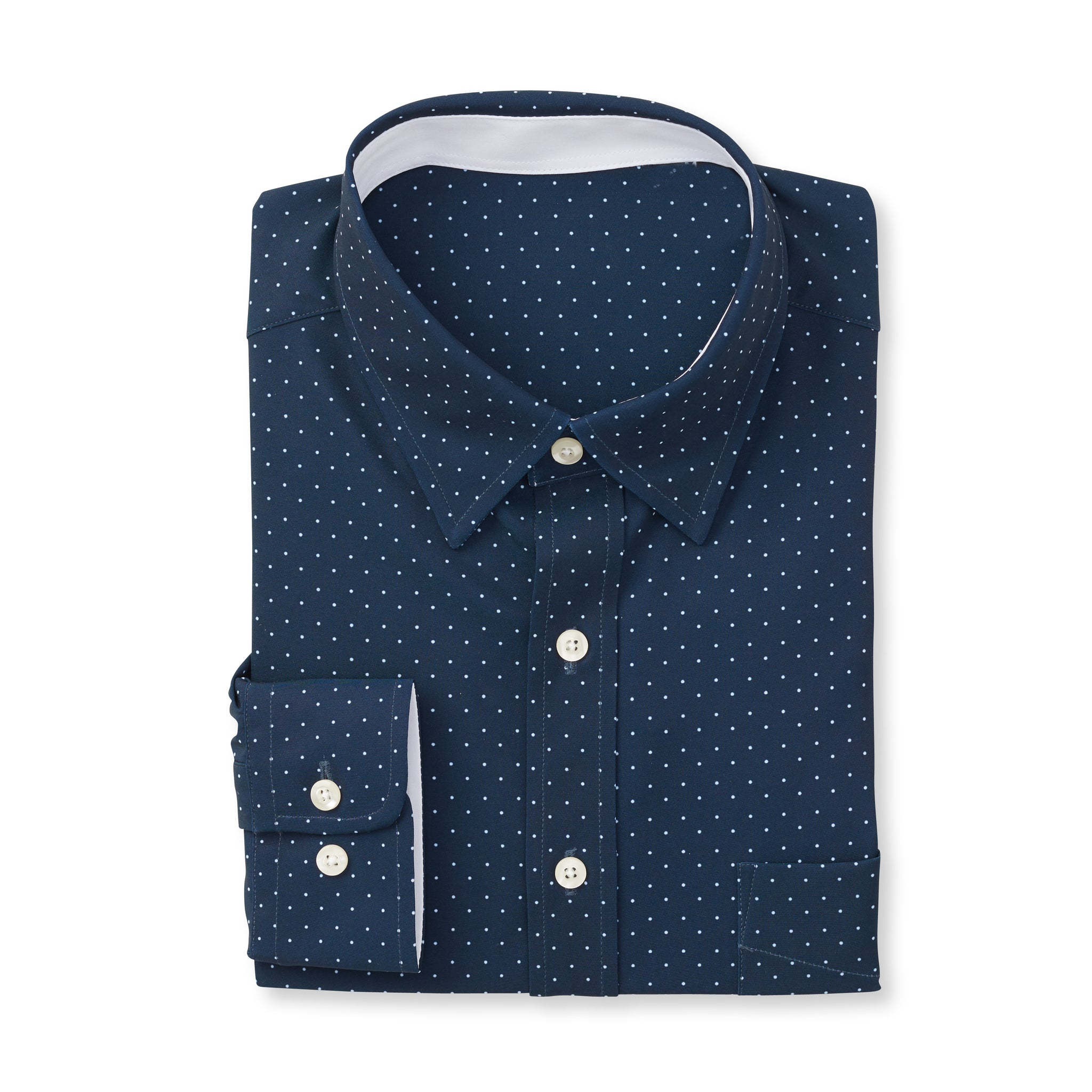 ECOTEC Dot Print Sport Shirt - IS92311 Navy